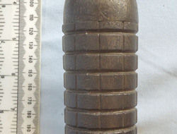1914 Rod Rifle Grenade with Ranging Disc. German WW1 Unfired Model of 1914 Rod Rifle Grenade with Ranging Disc.