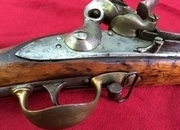 Ref 7909. A good Military Flintlock Musket of the type carried at the battle of Waterloo. Overall length 56 inches. Good untouched condition.   Muzzleloader