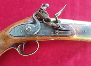 A rare Flintlock brass barrelled Blunderbuss pistol by THOMAS JEFFREYS of LONDON. C. 1726. Ref 2332.   Muzzleloader