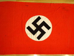 Large Original WW2 Nazi N.S.D.A. Window Banner, 72 1/2