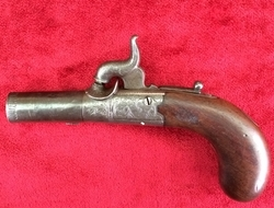 English 19th Century Percussion pocket pistol by Boston of Wakefield. Ref 9214   Muzzleloader