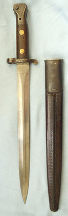 British 1888 Mark II, 2nd pattern, Lee Metford Bayonet, Scabbard And Frog. British 1888 Mark II, 2nd pattern, Lee Metford Bayonet, Scabbard And Frog. Blades