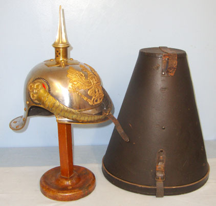 Prussian Cuirassiers Cavalry Officer's Steel & Brass Helmet With Imperial State  Prussian Cuirassiers Cavalry Officer's Steel & Brass Helmet With Imperial State  Accessories