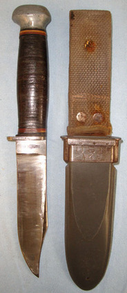 RH-35 PAL Made In USA U.S. Navy Mark 1 Utility / Fighting Knife Marked 'RH-35 PAL Made In USA' & Corre Blades