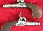 Continental Percussion pocket pistols with drop down triggers. Ref 8562   Muzzle loader